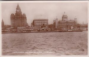 England Liverpool Liver Cunard & Dock Buildings Real Photo