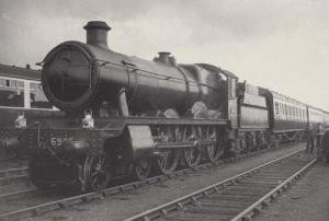 First GWR Passenger Train Coal Shortage Rare BBC Picture Library Photo Postcard