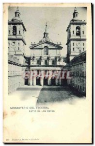 Old Postcard Monasterio de El Escorial Patio de los Reyes