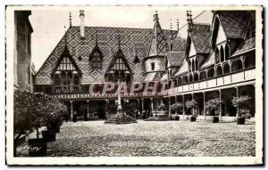 Old Postcard Beaune Hotel Dieu The Court & # 39Honneur