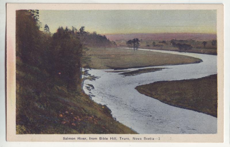 P949 old card view salmon river from bible hill truro nova scotia