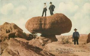 C-1908 Mt Morrison Colorado Seat Pluto Red Rocks Postcard Garden 3983