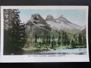 Canada: The Three Sisters, Canmore, Alberta c1940's RP by Gowen Sutton Co