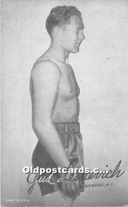 Gus Lesnervich Newark, New Jersey, NJ, USA Non Postcard Backing
