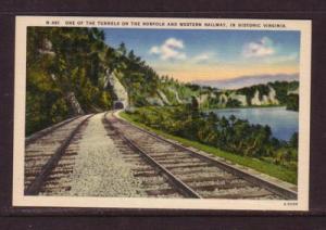 Virginia PC Tunnel on Norfolk & Western Railway unused