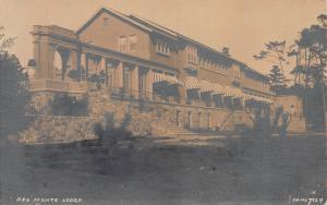 Del Monte Lodge, Pebble Beach, California, Early Real Photo Postcard, Unused