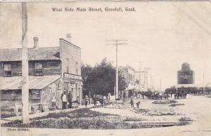 West Side , Main Street , Liquor Store , GRENFELL , Saskatchewan , Canada , 1907