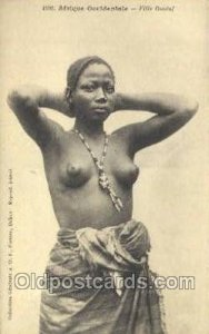 Afrique Occidentale Fille Ouolof African Nude Unused