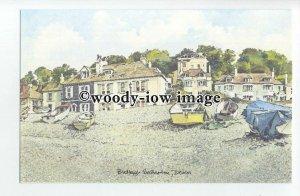 DS0160 - Devon - Budleigh Salterton from Beach, Artist - David Skipp - postcard