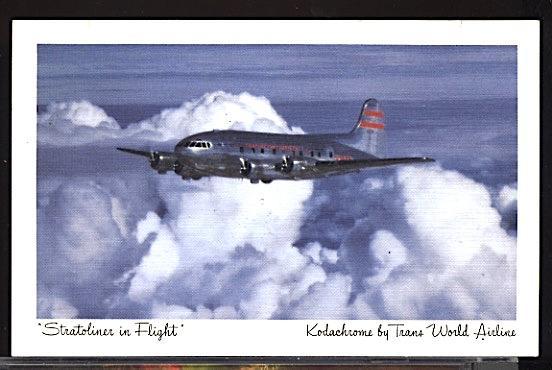 Aviation Airplane TWA Boeing Stratoliner Linen
