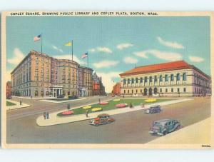Linen LIBRARY AT COPLEY PLAZA Boston Massachusetts MA ho1883