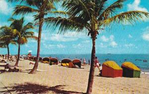 Florida Hollywood By The Sea Beach Cabanas On Beautiful