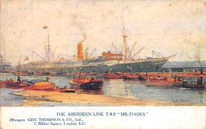 TSS Miltiades Aberdeen Line Ship Unused