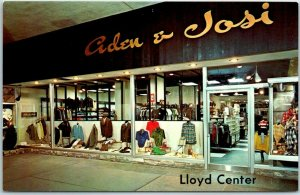 1960s Portland OR Postcard LLOYD CENTER Shopping Mall ADEN & JOSI Clothing Store