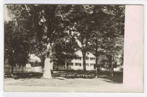 Oak Grove Hotel Juneau Wisconsin RPPC 1908 postcard