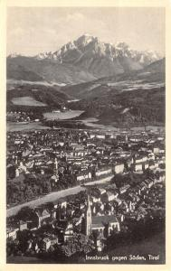 Innsbruck Tirol~Tyrol Austria~Birdseye Panorama~Real Photo Postcard~RPPC