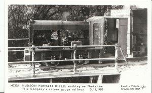Railway Postcard - Train - Hudson Hunslet Diesel - Narrow Gauge Railway  V2224