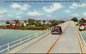 Florida Keys Overseas Highway Over Pigeon Key Curteich
