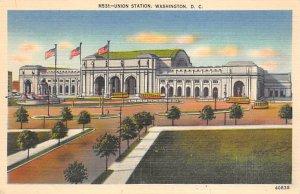 Washington D.C. Train Postcard Union Station Unused