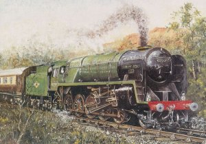 Evening Star Train Painting British Railways Painting Postcard