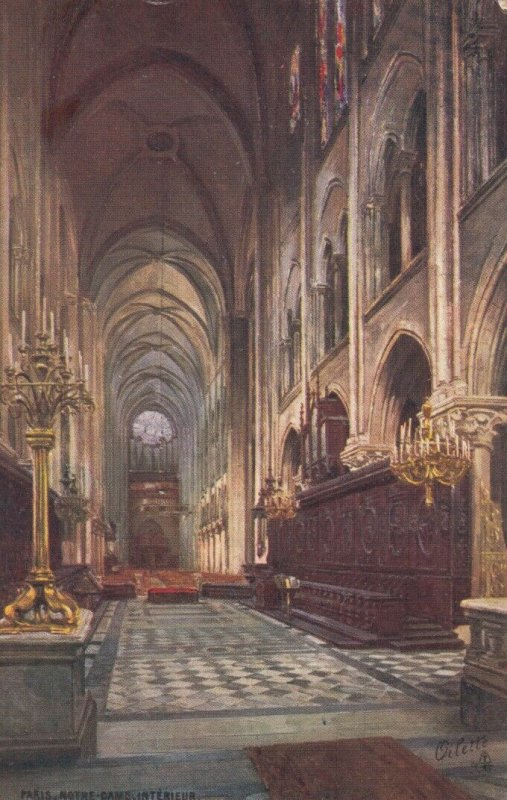 TUCK #945; PARIS, France, 1900-10s; Notre Dame Interior