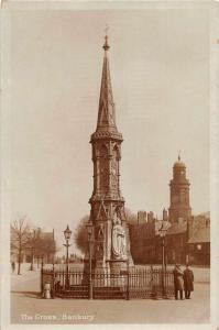 Banbury England The Cross Real Photo Antique Postcard J79123
