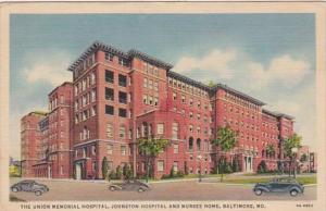 Maryland Baltimore Union Memorial Hospital Johnston Hospital and Nurses Home ...