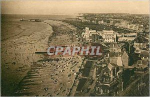 Old Postcard Dieppe Seine Inferieure General view of the Beach