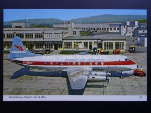 Isle of Man RONALDSWAY AIRPORT Cambrian British Air Service G-AMOO c1977 PC