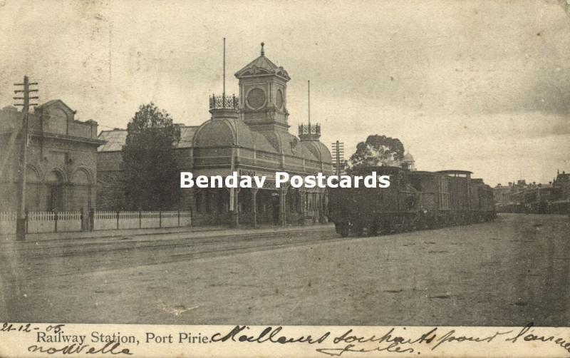 australia, PORT PIRIE, S.A., Railway Station, Steam Train (1906) Due To Cancel