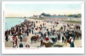 Old Orchard Beach Maine~Booth Bicycles~Buggy~Bath House~Bathers~Bungalows~c1900