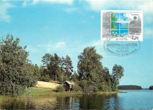 Saima Finland Lakeside postcard 1986