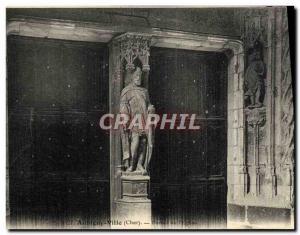 Old Postcard Aubigny City Portal & # 39eglise