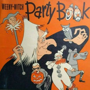 Halloween Party Book Vintage Weeny Witch Original Masks Cutouts Recipes 1952