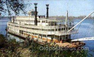 Stern-wheeler Ferry Boat Unused yellowing on back side