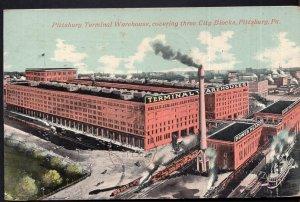 Pennsylvania PITTSBURGH Terminal Warehouse Three City Blocks - pm1910 - DB