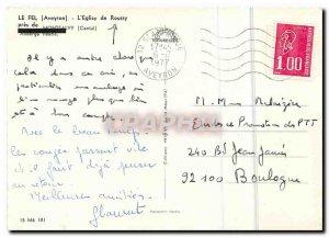 Modern Postcard Le Fel Aveyron church Roussy near Montsalvy Cantal Auberge fl...