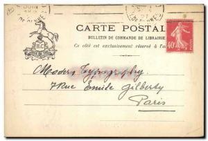 Old Postcard Edward Champion Bookseller Quai Malaquais Horse Paris