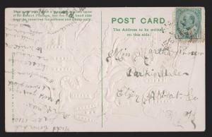 General Greetings - Best Wishes Flowers - Used 1910 - Embossed