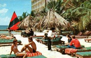 St Thomas US Virgin Islands Carib Beach Hotel Sun Bathers Postcard