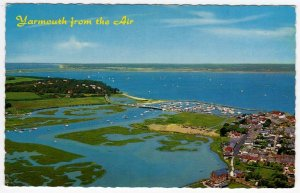 (ak52) Yarmouth from the Air - Isle of Wight Postcard