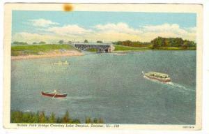 Nelson Park Bridge crossing Lake Decatur, Decatur, Illnois, PU-1950