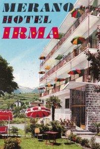 Italy Merano Hotel Irma Vintage Luggage Label lbl0576
