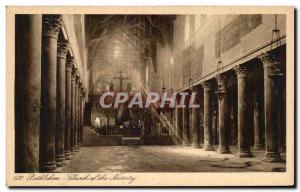 Old Postcard Bethlehem Church Of The Nativity