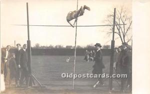Pole Vaulter, Dickinson, Carlisle, PA USA Real Photo Gymnastics Unused