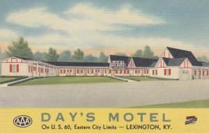 LEXINGTON , Kentucky , 30-40s ; Day's Motel