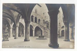 Italy Firenze Florence Palazzo Pretoria Courtyard NPG Postcard Vintage