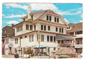 Ocean City NJ Nassau Apartments Ocean Av 15th St Vintage 4X6 E J Turpin Postcard