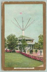 Willow Grove PA Airships, Amusement Park, Gold Border, Thrills, No Danger 1910
