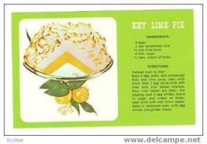 Recipe   Key Lime Pie, 40-60s